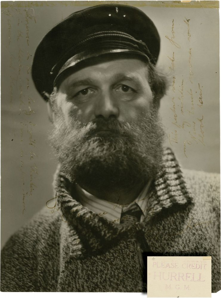Photograph of explorer Peter Freuchen. Peter Freuchen, George Hurrell, subject, photographer.