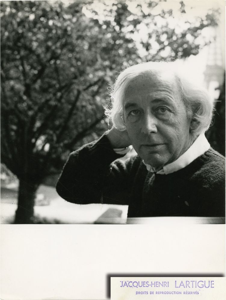 Photograph of Robert Bresson by Jacques-Henri Lartigue. Robert Bresson, Jacques-Henri Lartigue, director, photographer.