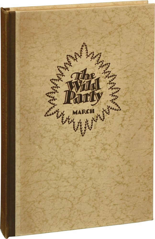 The Wild Party. Joseph Moncure March, poem, Reginald Marsh, illustrations.