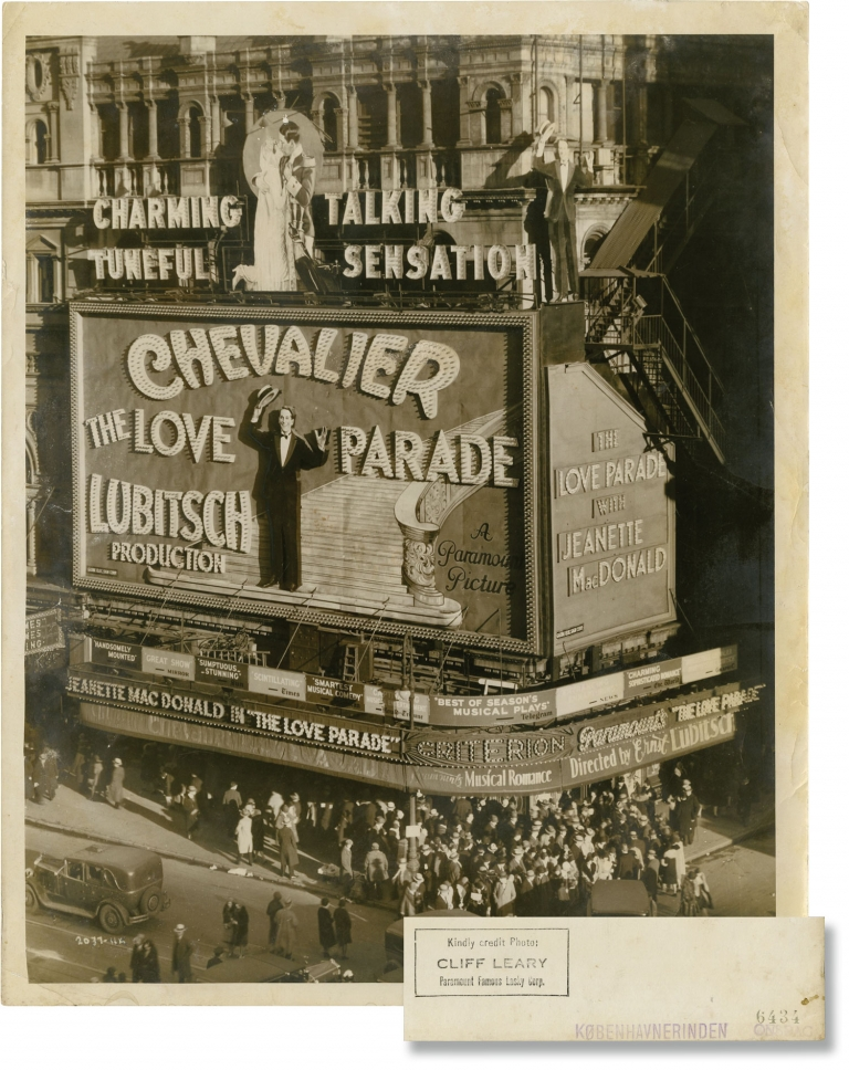 The Love Parade [Parade d'amour]. Ernst Lubitsch, Cliff Leary, Jeanette MacDonald Maurice Chevalier, director, photographer, starring.