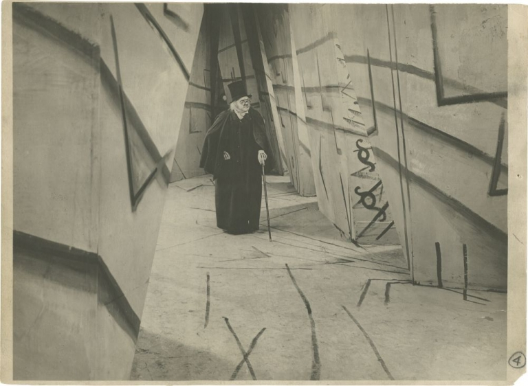 The Cabinet of Dr. Caligari. Robert Wiene, director, Willy Hameister, cinematographer, Werner Krauss Conrad Veidt, Lil Dagover, Friedrich Feher, starring.