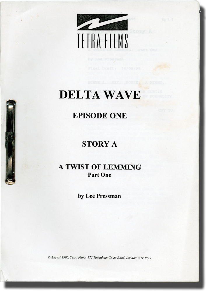 Four scripts from the television show Delta Wave. Roger Gartland, Lee Pressman, Ania Sowinski Dudley Sutton, Victoria Wicks, Una Stubbs, director, screenwriter, starring.