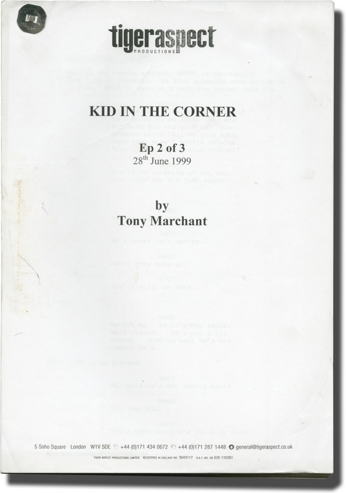 Kid in the Corner. Bille Eltringham, Tony Marchant, Douglas Henshall Julian Morris, Clare Holman, director, screenwriter, starring.