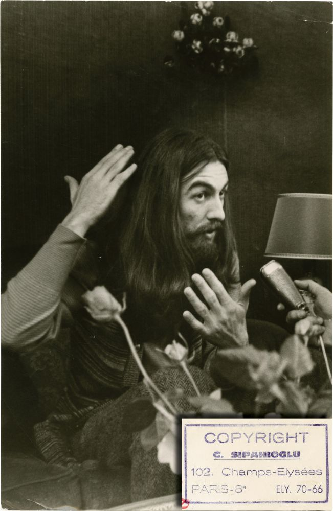 George Harrison At A Press Conference For All Things Must Pass Circa 1970