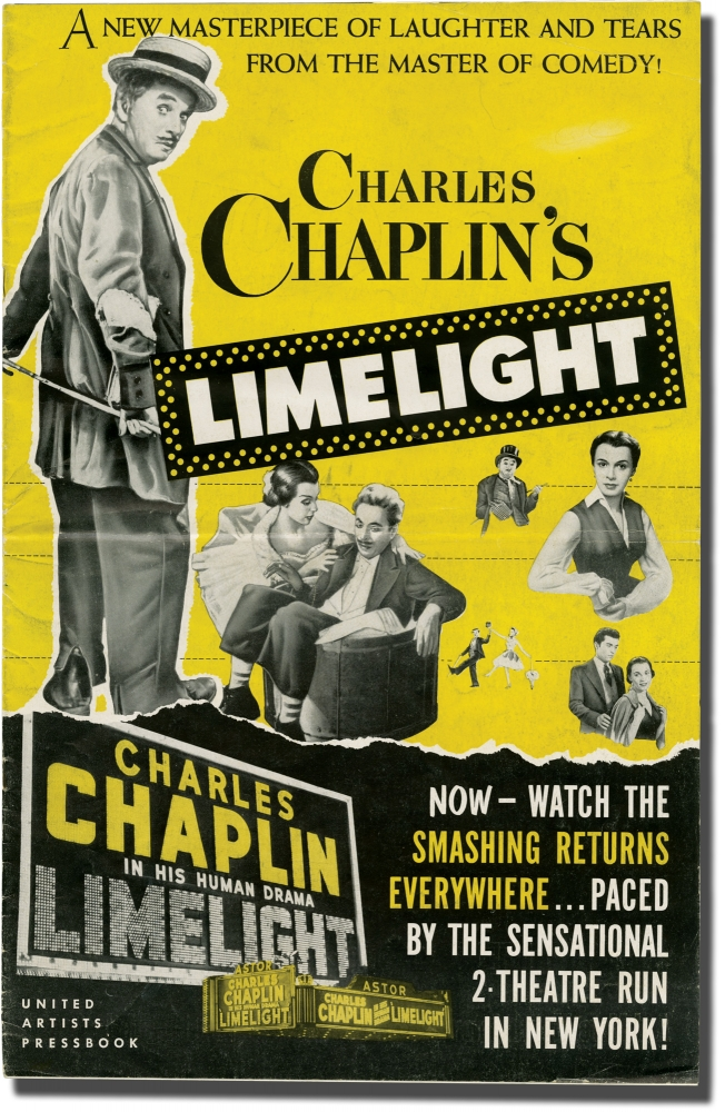 Limelight. Charles Chaplin, Claire Bloom Buster Keaton, screenwriter director, starring, starring, Charlie.