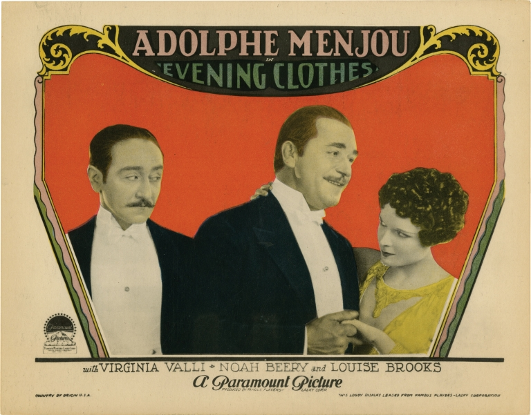 Evening Clothes. Louise Brooks, Yves Mirande Andre Picard, Noah Beery Adolphe Menjou, Virginia Valli, starring, play.