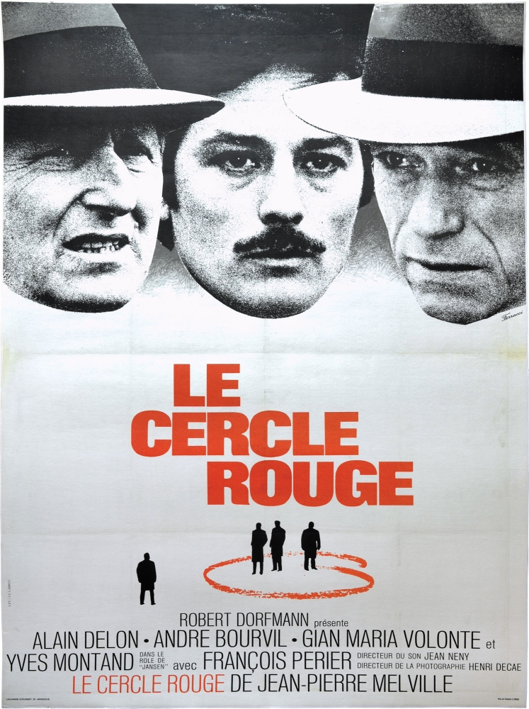 Le cercle rouge. Jean-Pierre Melville, director, Yves Montand Alain Delon, starring.