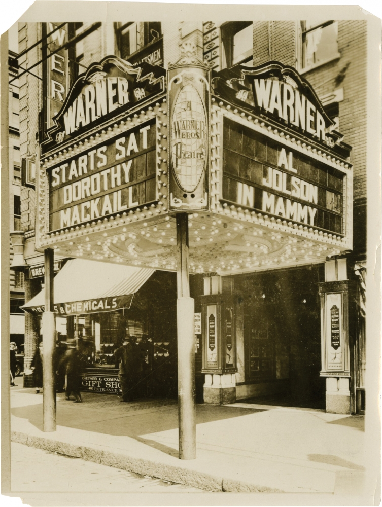 Archive of 14 original photographs of movie theater marquees, circa 1930s. Jack Thamm.