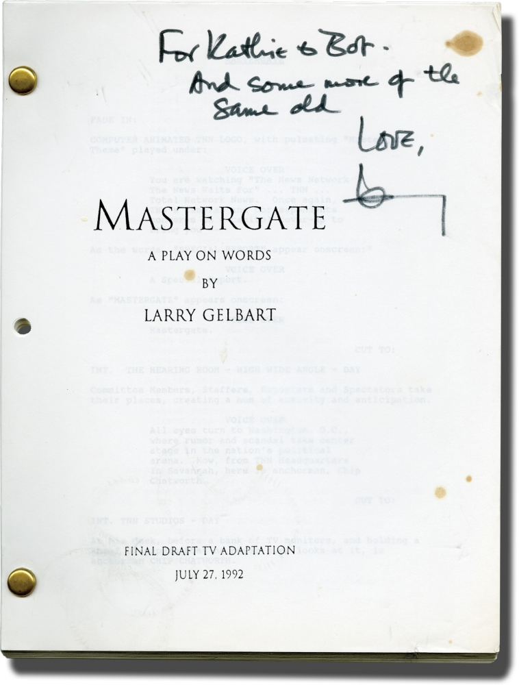 Archive of Scripts and Letters from Larry Gelbart to Robert Parrish. Larry Gelbart.