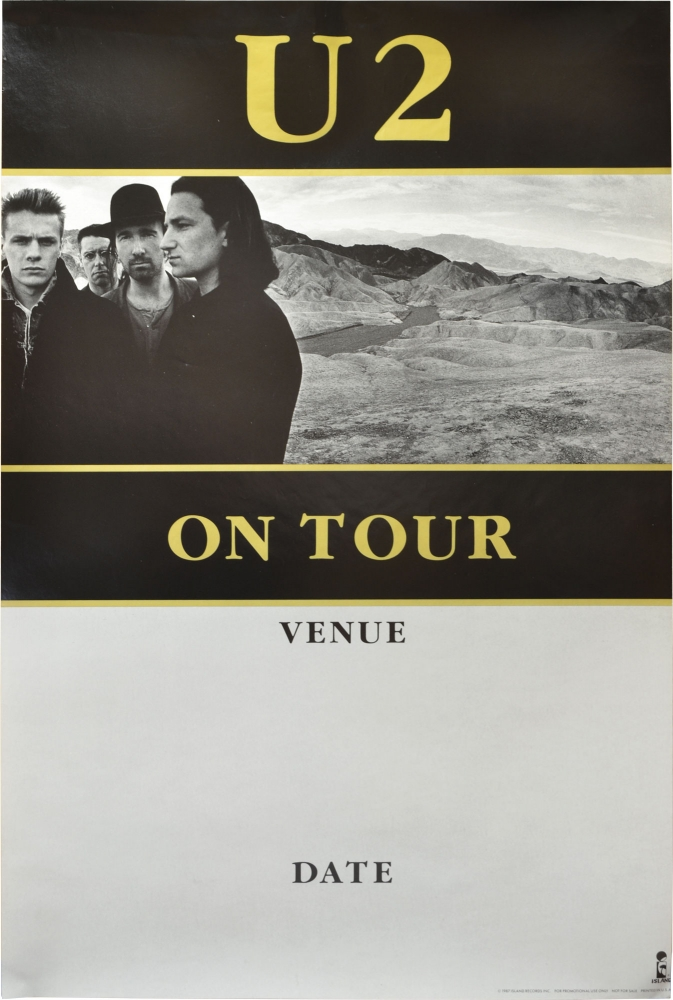 promotional poster blank for u2 u0026 39 s the joshua tree tour