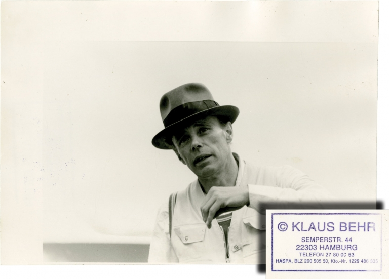 Joseph Beuys, 1982. Joseph Beuys, Klaus Behr, subject, photographer.