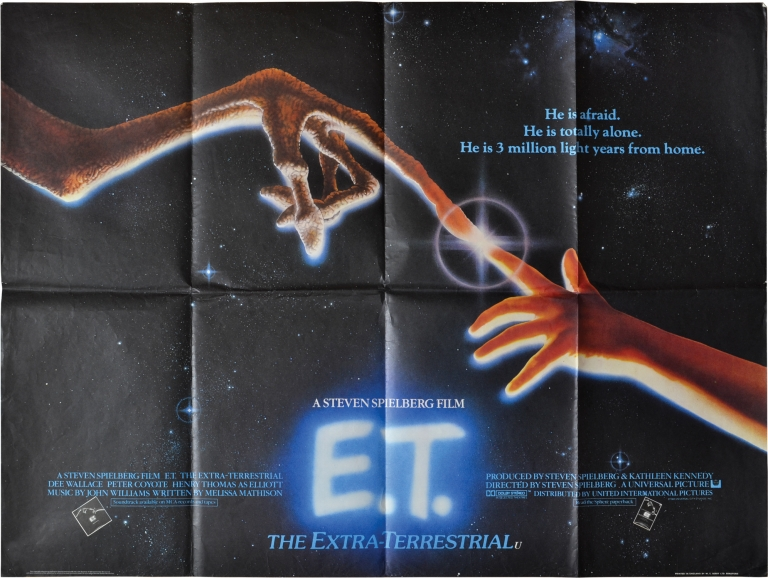 E.T. the Extra-Terrestrial. Steven Spielberg, Melissa Mathison, Henry Thomas Dee Wallace, Drew Barrymore, Peter Coyote, director, screenwriter, starring.