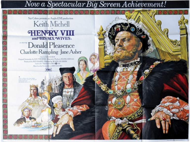 Henry VIII and His Six Wives. Waris Hussein, Ian Thorne, Donald Pleasence Keith Mitchell, Jane Asher, Charlotte Rampling, director, screenwriter, starring.
