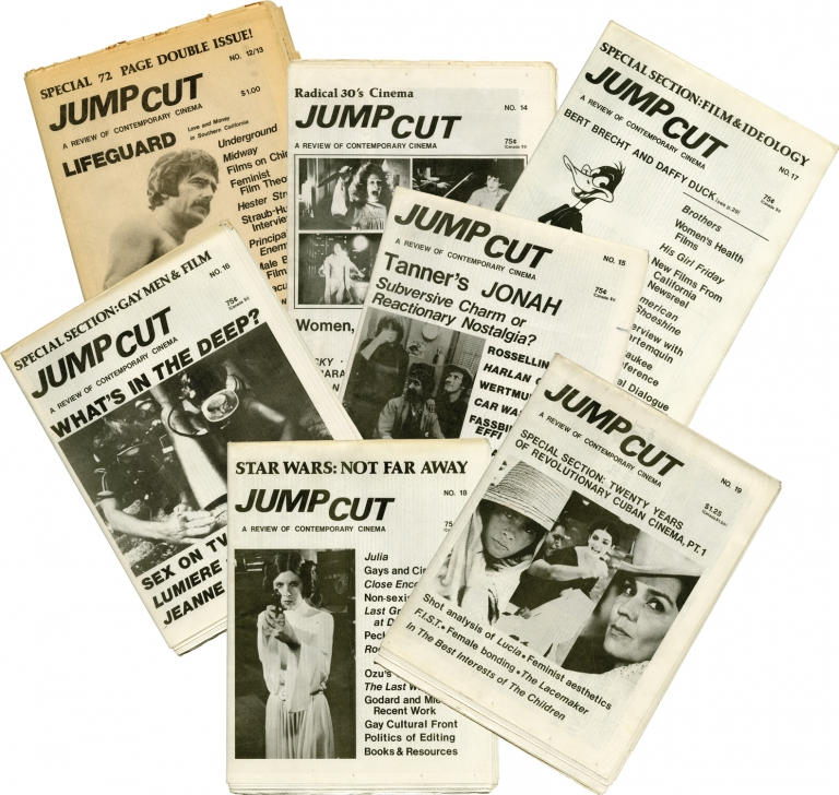 Collection of 8 early issues of Jump Cut: A Review of Contemporary Cinema. Chuck Kleinhans, John Hess.