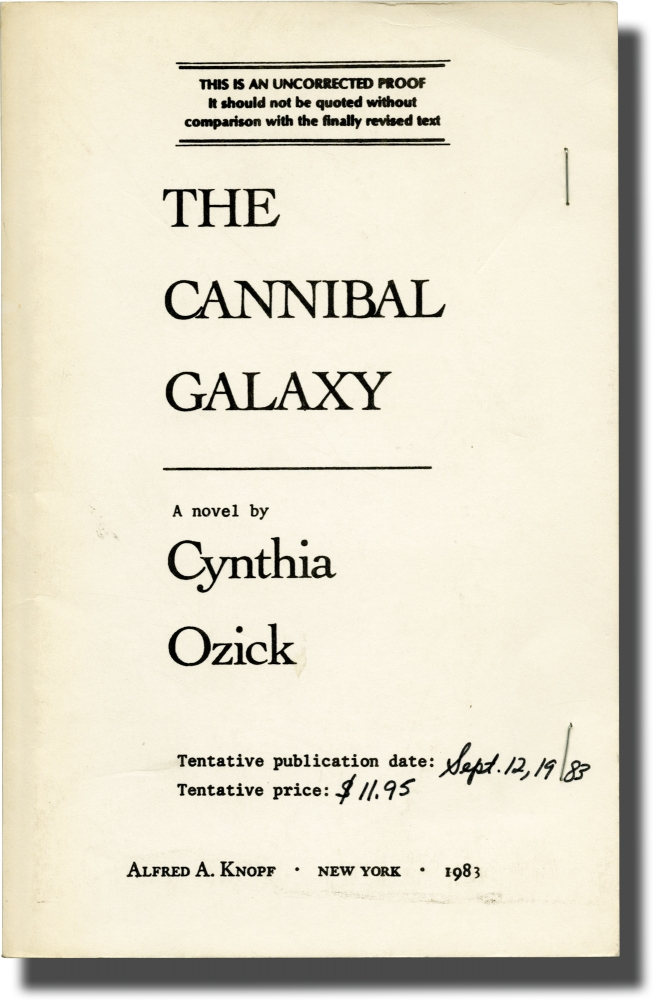 The Cannibal Galaxy. Cynthia Ozick.
