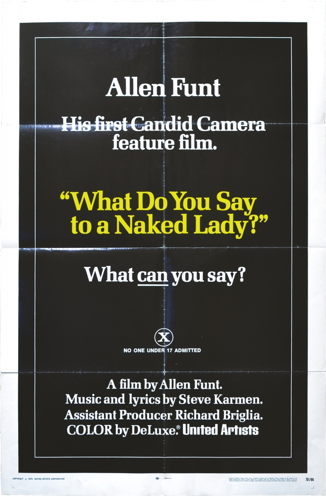 What Do You Say to a Naked Lady. Allen Funt, Laura Huston Richard Roundtree, Joie Addison, Susanna Clemm, screenwriter director, starring, producer, starring.