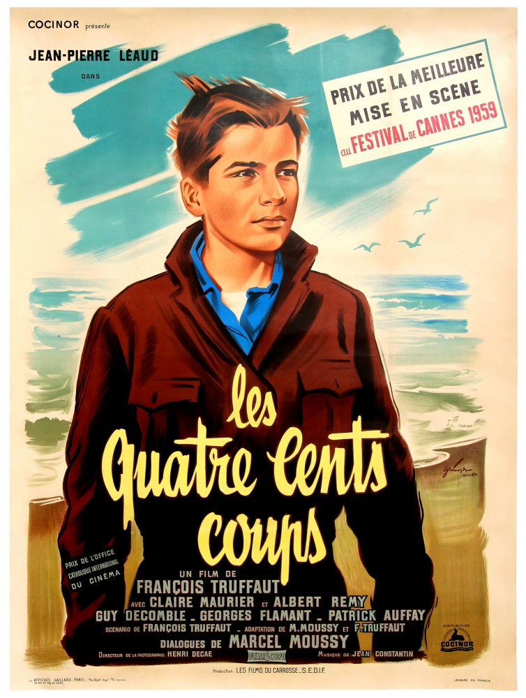 The 400 Blows. Francois Truffaut, screenwriter director, Marcel Moussy, screenwriter, Jean-Pierre Leaud, starring.