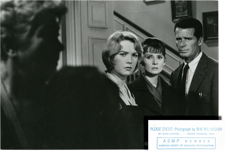 The Children's Hour. Robert Willoughby, Bob, photographer, William Wyler, director, John Michael Hayes, screenwriter, Lillian Hellman, play, Shirley MacLaine Audrey Hepburn, James Garner, starring.
