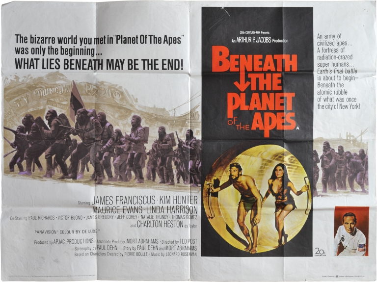 Beneath the Planet of the Apes. Pierre Boulle, Ted Post, Paul Dehn, Kim Hunter James Franciscus, Linda Harrison, Maurice Evans, novel, director, screenwriter, starring.
