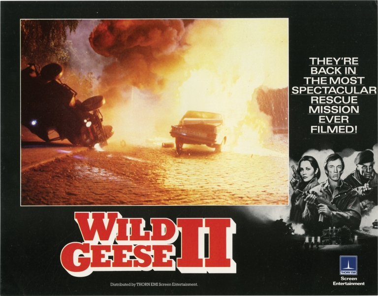Wild Geese II. Peter R. Hunter, Reginald Rose, Barbara Carrera Scott Glenn, Laurence Olivier, Edward Fox, director, screenwriter, starring.