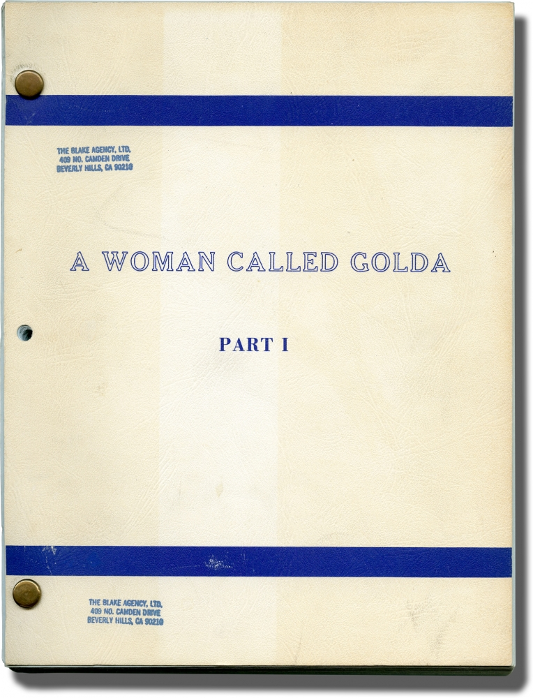 A Woman Called Golda [A Woman Called Golda: Part I]. Alan Gibson, Steve Gethers Harold Gast, Ned Beatty Ingrid Bergman, Judy Davis, Franklin Cover, director, screenwriters, starring.