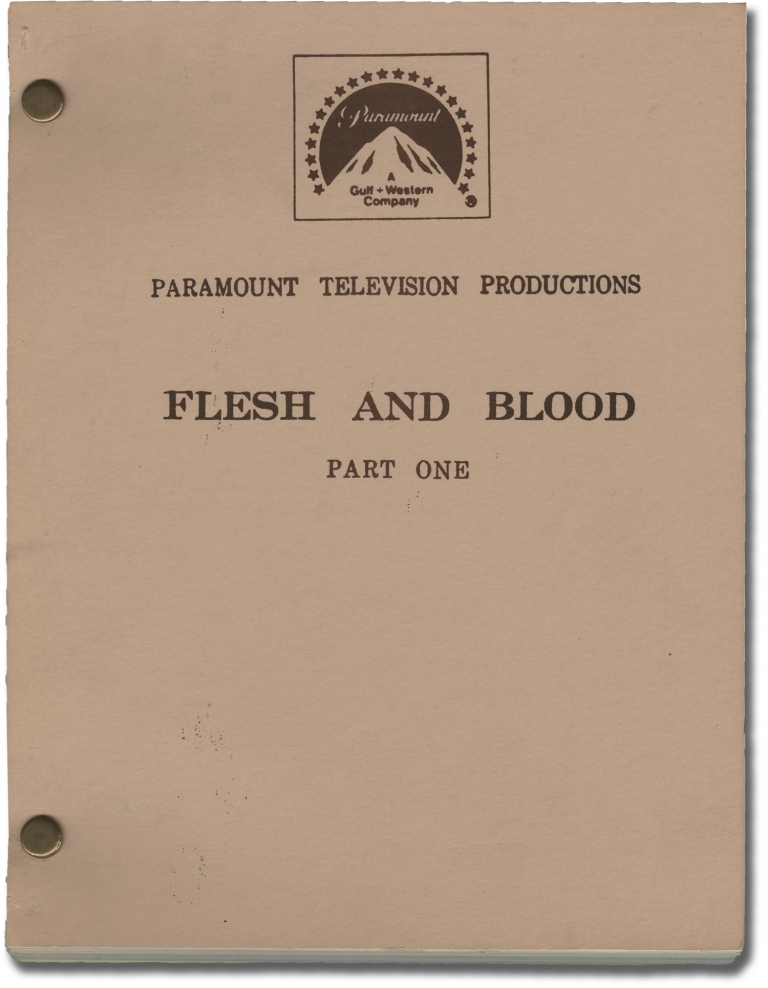 Flesh and Blood [Flesh and Blood: Part One]. Jud Taylor, Eric Bercovici, Luca Bercovici Pete Hamill, Anthony Charnota, John Cassavetes, Tom Berenger, director, screenwriter, novelist, starring.