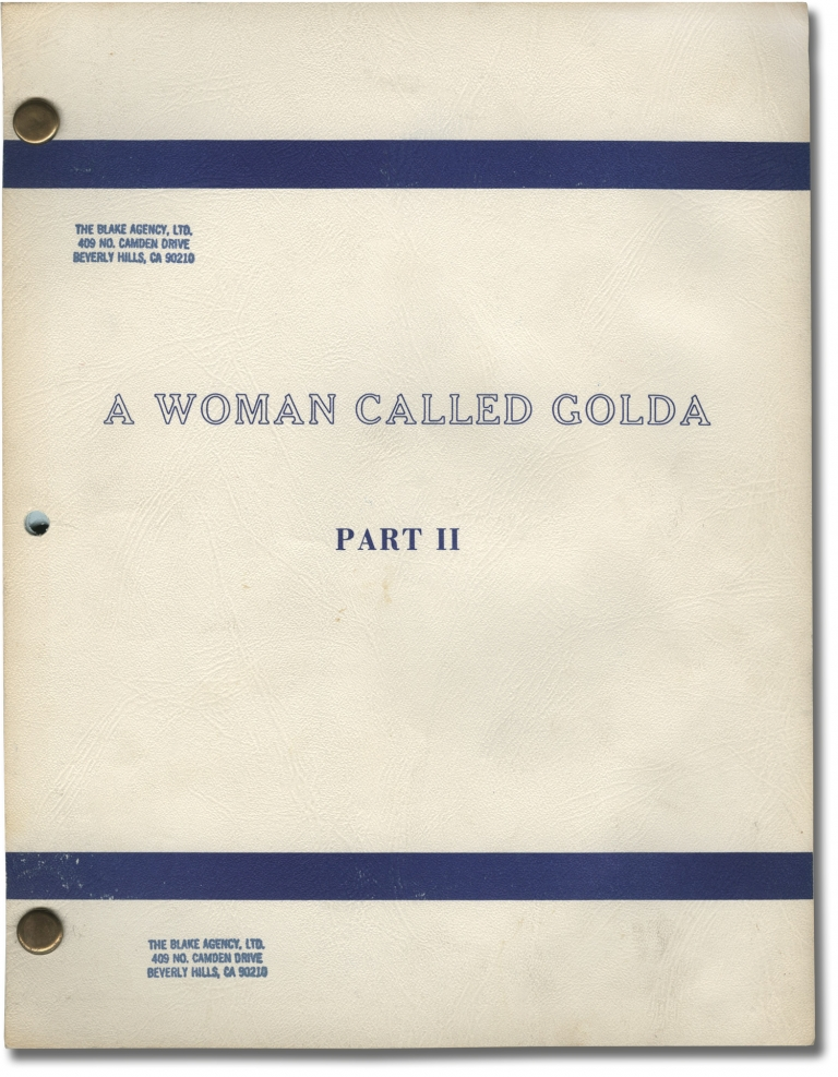 A Woman Called Golda: Part II. Alan Gibson, Steve Gethers Harold Gast, Ned Beatty Ingrid Bergman, Judy Davis, Franklin Cover, director, screenwriters, starring.