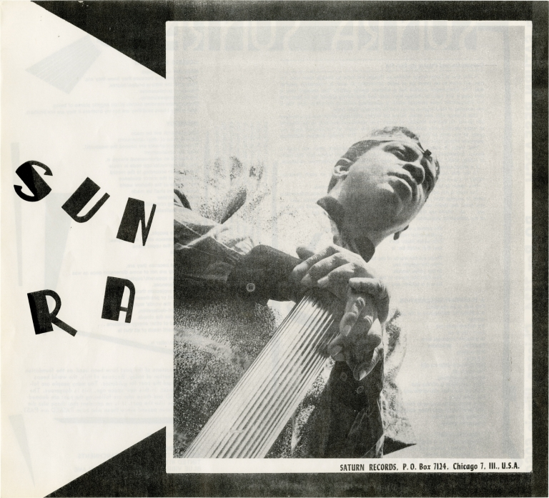 Original Saturn Research flyer for Sun Ra, circa 1970s. Sun Ra.