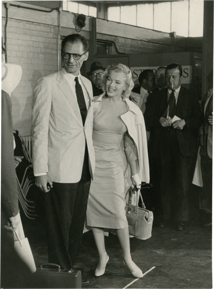 Original photograph of Marilyn Monroe and Arthur Miller. Marilyn Monroe, Arthur Miller, subjects.