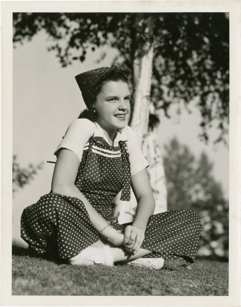 Original photograph of Judy Garland, circa 1937. Judy Garland, subject.
