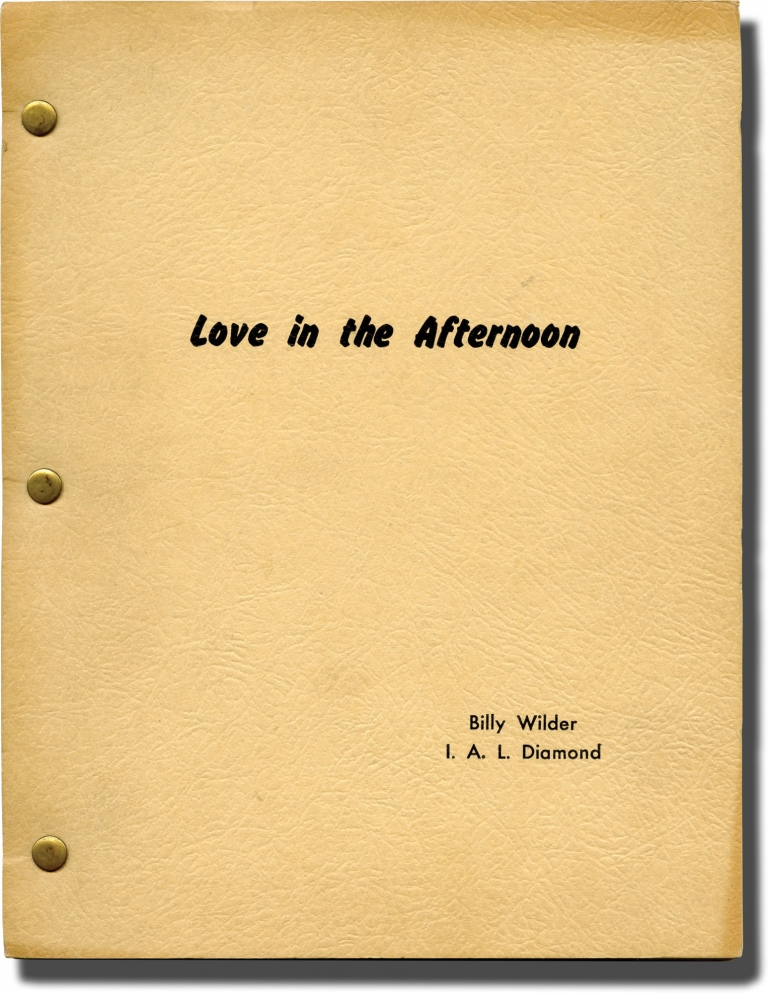 Love in the Afternoon. Billy Wilder, I A. L. Diamond, Claude Anet, Audrey Hepburn Gary Cooper, John McGiver, Maurice Chevalier, director screenwriter, producer, screenwriter, author, starring.