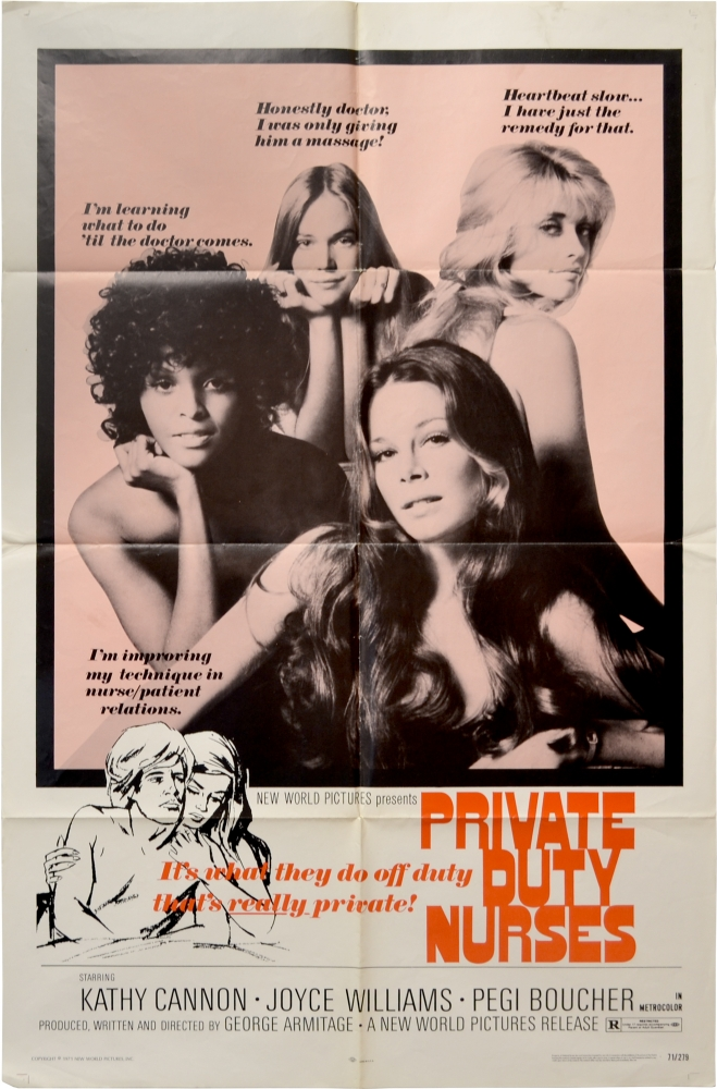 Private Duty Nurses. George Armitage, Joyce Williams Katherine Cannon, Pegi Boucher, screenwriter director, starring.