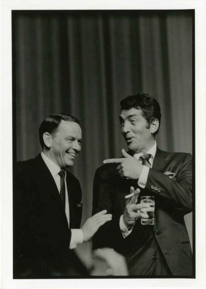Original photograph of Frank Sinatra and Dean Martin, circa 1960s. Frank Sinatra, Dean Martin, subjects, Jim Marshall, photographer.