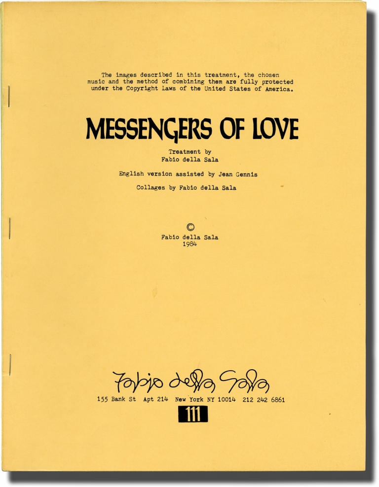 Messengers of Love. Jimi Hendrix, Fabio della Sala, Jean Gennis, screenwriter.