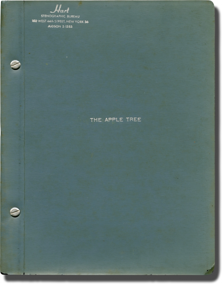 The Apple Tree. Mark Twain, Frank R. Stockton, Jules Feiffer, Mike Nichols, Sheldon Harnick Jerry Bock, Jerome Coopersmith, Larry Blyden Alan Alda, Carmen Alvarez, Barbara Harris, author, director, music book, lyrics book, book, starring.