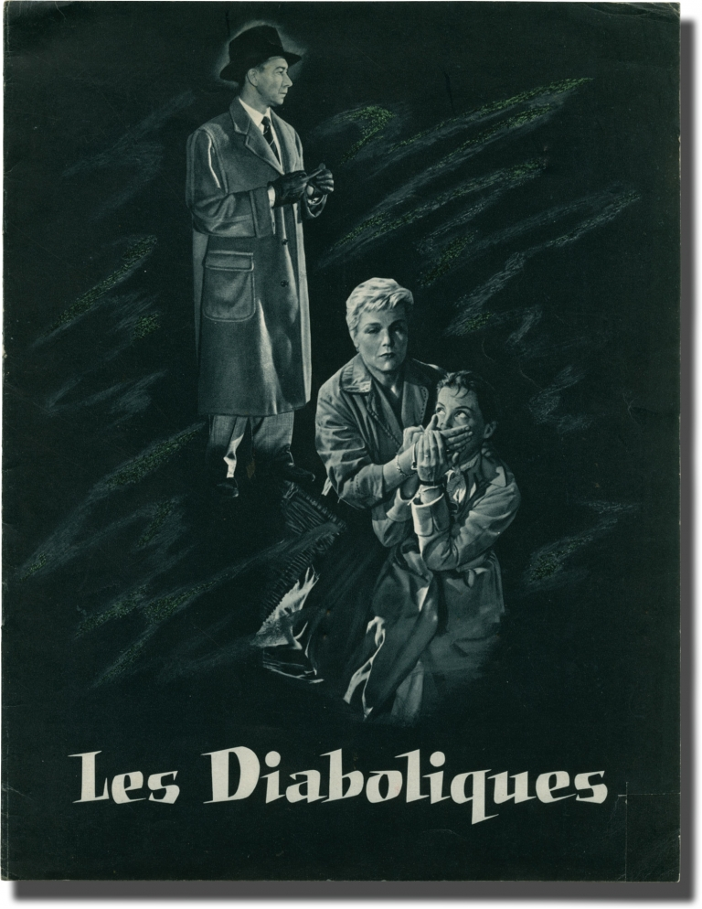 Les diaboliques [Diabolique]. H. G. Clouzot, Pierre Boileau, Thomas Narcejac, Rene Masson Jerome Geronimi, Frederic Grendel, Vera Clouzot Simone Signoret, Paul Meurisse, screenwriter director, novel, screenwriters, starring.