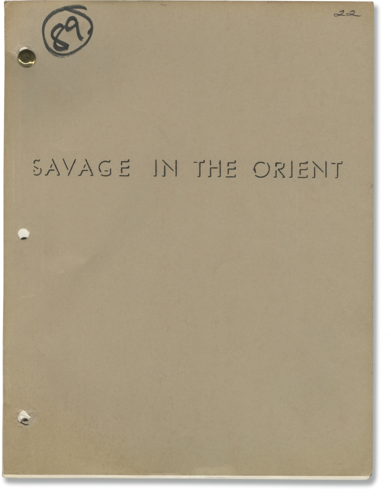 Savage in the Orient. Vincent Sherman, Wendell Mayes, Lew Ayres Butz Aquino, Anthony Castello, Don Gordon Bell, director, screenwriter, starring.