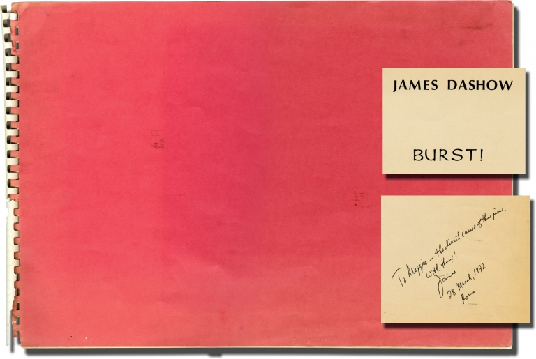 Burst. James Dashow, Jack Kerouac, composer, text.
