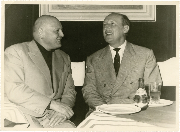 Bourvil at lunch. Bourvil.