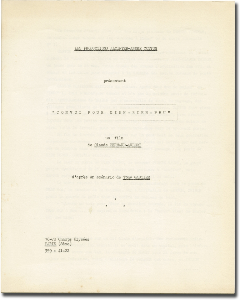 Le facteur s'en va-t-en guerre [Convoi pour Dien-Bien-Phu]. Claude Bernard-Aubert, Gaston-Jean Gauthier, Pascal Jardin René Hardy, Claude Accursi, Daniel Ceccaldi Charles Aznavour, Doudou Babet, Helmuth Schneider, screenwriter director, screenwriter novel, screenwriters, starring.