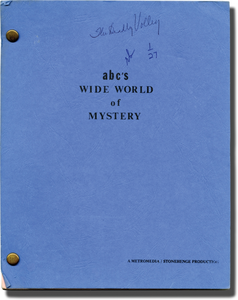 ABC's Wide World of Mystery: The Deadly Volley. Margaret Armen, Marian McCargo Beverly Garland, William Beckley, screenwriter, starring.