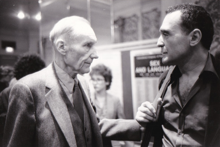 Original photograph of William Burroughs and John Giorno, 1981. William Burroughs, John Giorno, Alain Keler, subjects, photographer.