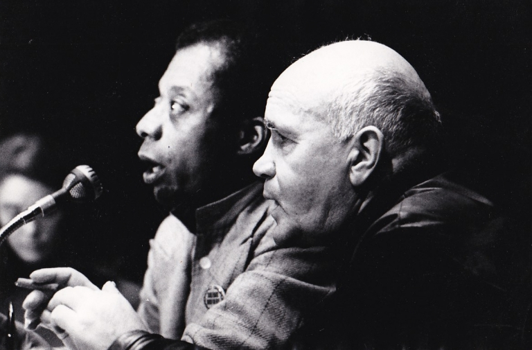 Original photograph of James Baldwin and Jean Genet, 1971. James Baldwin, Jean Genet, subjects.