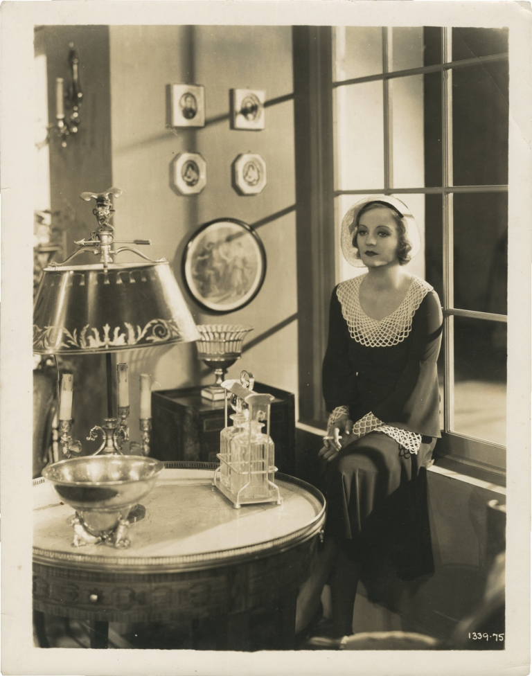"""Original photograph of Tallulah Bankhead from the 1931 film, """"My Sin"""" Tallulah Bankhead, Fredric March, subject, starring."""