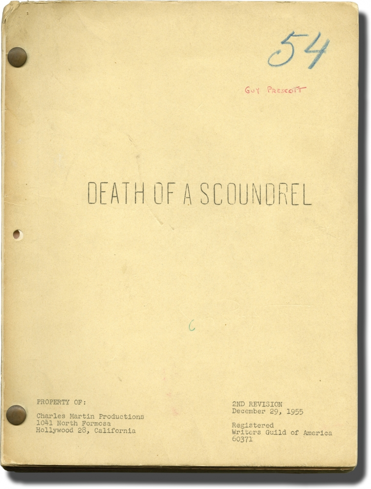 Death of a Scoundrel. Charles Martin, Yvonne De Carlo George Sanders, Zsa Zsa Gabor, screenwriter director, producer, starring.