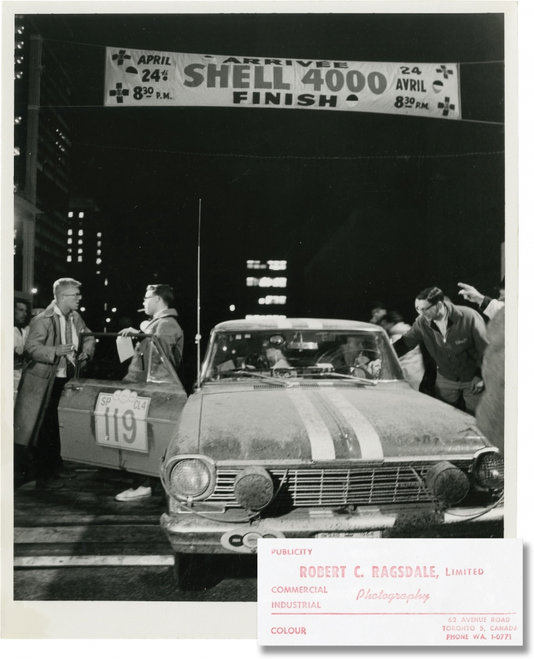 Archive of 20 photographs of the Shell 4000 Rally, 1964. Robert C. Ragsdale, Victor Leagas W B. Edwards, photographers.