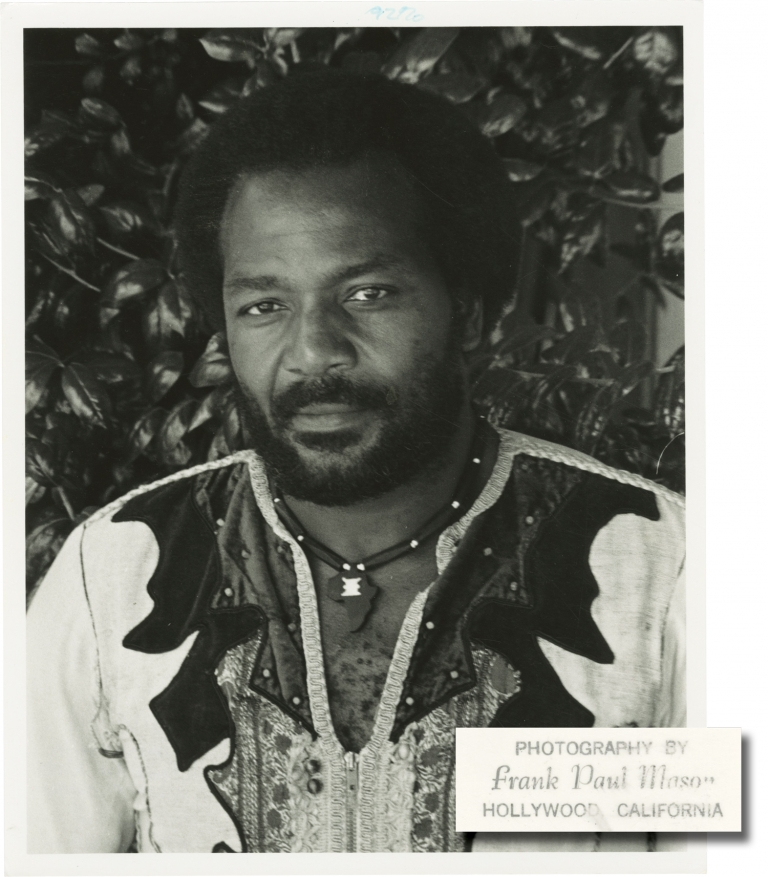 Collection of seven original publicity photographs of Jim Brown, 1977. Jim Brown, Frank Paul Mason, subject, photographer.