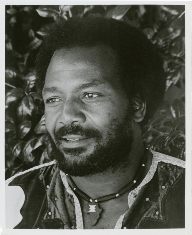 Three original publicity photographs of Jim Brown, 1977. Jim Brown, Frank Paul Mason, subject, photographer.