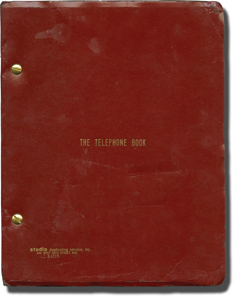 The Telephone Book. Nelson Lyon, Sarah Kennedy Jill Clayburgh, Ultra Violet, screenwriter director, starring.