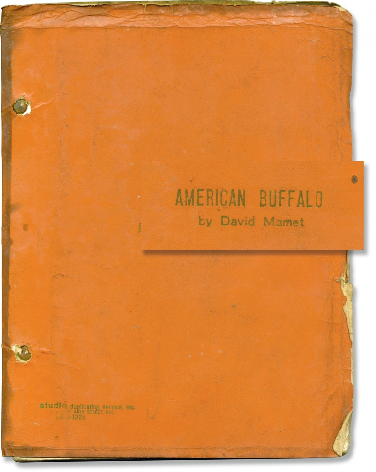 American Buffalo. Ulu Grosbard, David Mamet, Kenneth McMillan Robert Duvall, John Savage, director, playwright, starring.